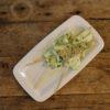 Hvitløk og persille marinert fiskespyd